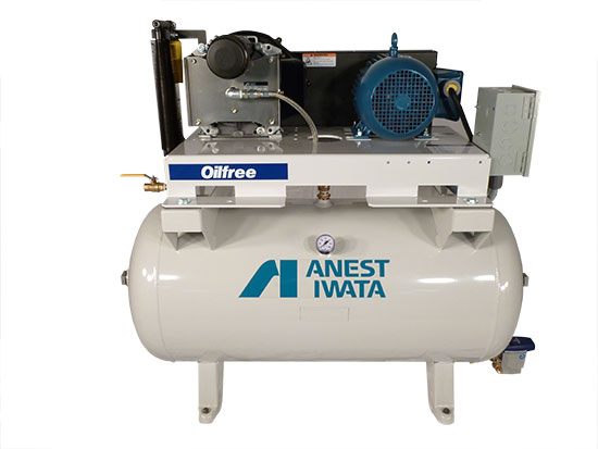Anest Iwata Oil Less Compressors Slte10d Scroll Tank
